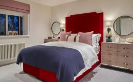 9. Red bedroom